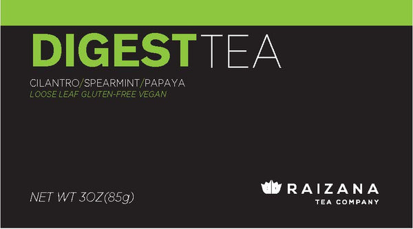 DIGESTTEA: Spearmint + Cilantro + Lemongrass + Papaya (Herbal Tea) - Raizana Tea Co - 3