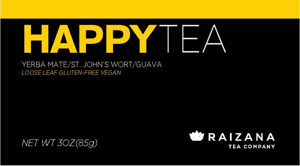 HAPPYTEA: St. John's Wort + Yerba Mate + Hibiscus (Herbal Tea) - Raizana Tea Co - 4