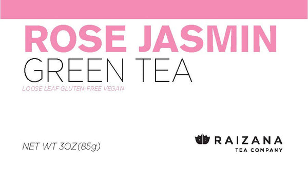 ROSE JASMINE Green Tea - Raizana Tea Co - 3