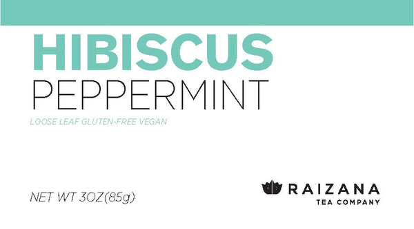 HIBISCUS Peppermint Herbal Tea - Raizana Tea Co - 4