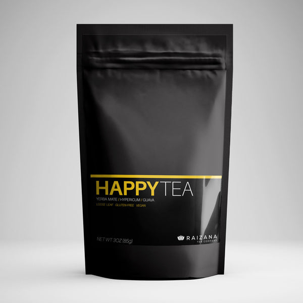 HAPPYTEA: St. John's Wort + Yerba Mate + Hibiscus (Herbal Tea) - Raizana Tea Co - 1
