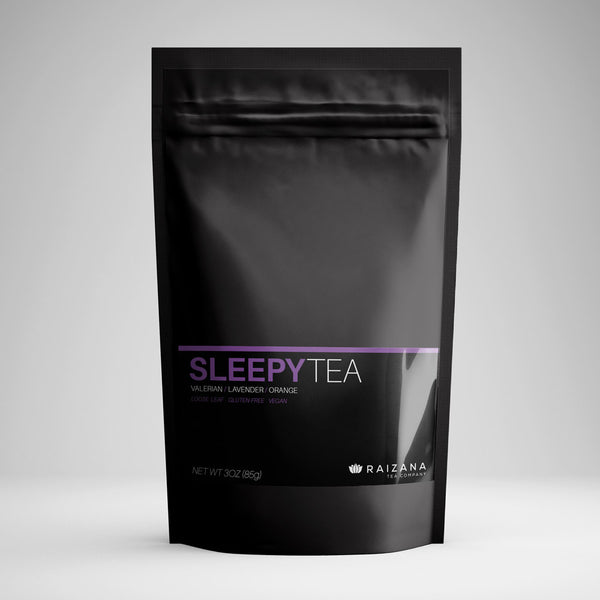 SLEEPYTEA: Passionflower + Valerian + Lavender + Orange (Herbal Tea) - Raizana Tea Co - 1