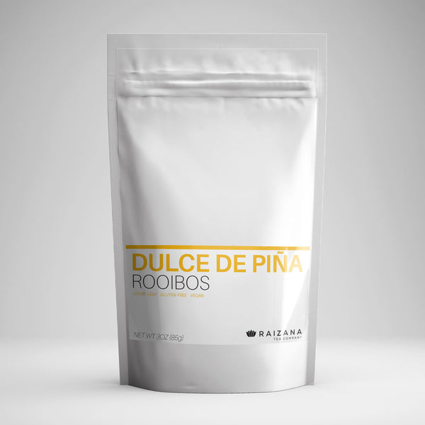 DULCE DE PINA: Rooibos Coconut Pineapple Herbal Tea - Raizana Tea Co - 1