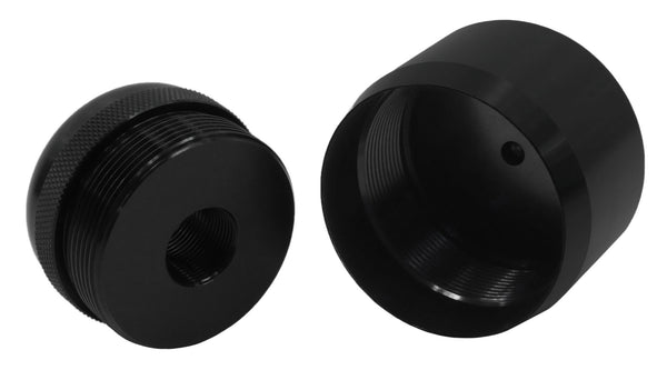 1 2 28 To D Cell Maglite Adapter Amp Cap Combo Black