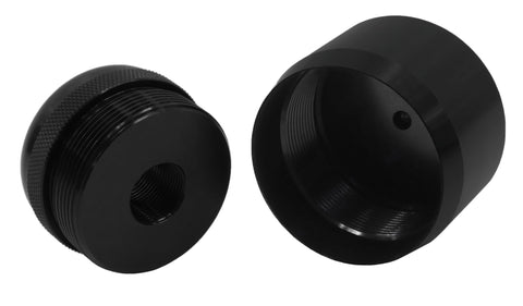 1/2-28 To D Cell MagLite Adapter & Cap Combo