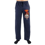 Red Superman Flying Logo Print Men's Sleepwear Lounge Pants