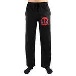 Marvel Comics Deadpool Face Logo Print Men's Nightwear Lounge Pants Gift