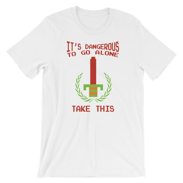 It's Dangerous to go Alone, Take This! Legend of Zelda Unisex T-Shirt | Nintendo Shirt | Link & Zelda Gift Idea