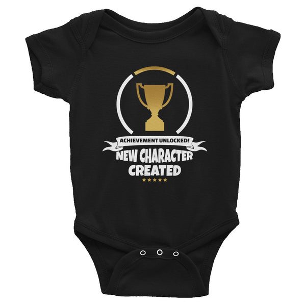 New Character Created Video Game Shirt | Achievement Unlocked Baby Onesie | Fatherhood Unlocked Matching Shirts for Dad and Baby