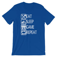 Eat Sleep Game Repeat Gamer T-Shirt Unisex | Video Game tee | Birthday Gift Idea | Playstation 4 Tee