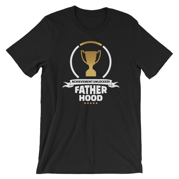 Fatherhood Achievement Unlocked Gamer T-Shirt | Fathers Day Gift Idea | Video Game Gift for Dad | Gamer Shirt for Dad | Matching Shirts
