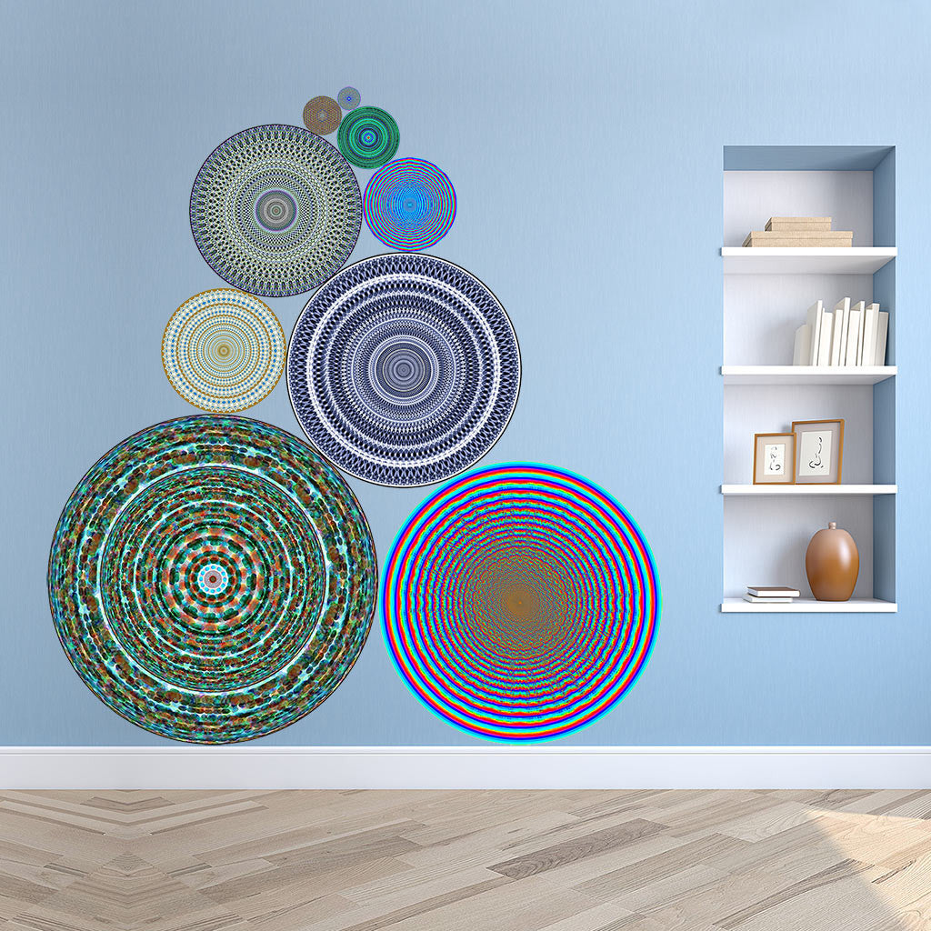 wall sticker sets and murals conspicuous design whimsical stacked circle wall sticker mural in hallway