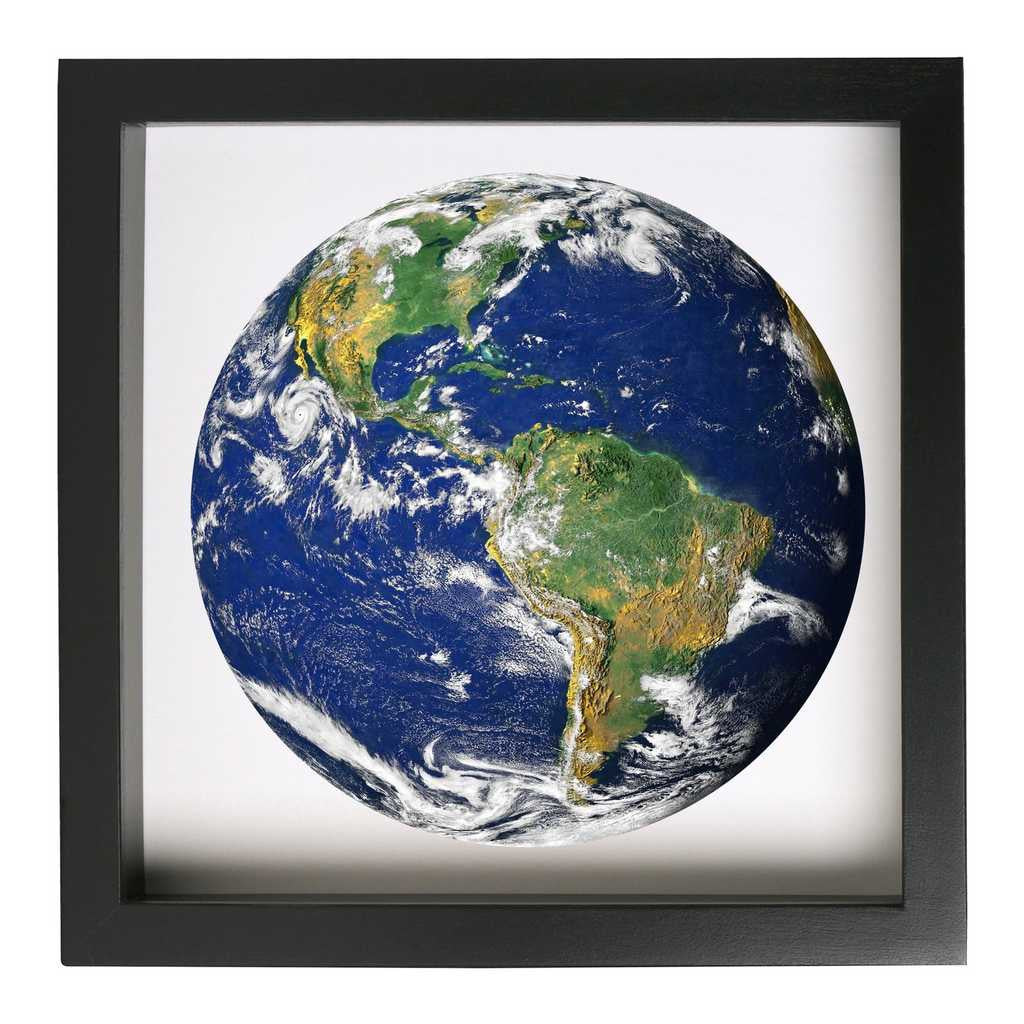 Earth From Space Framed Nature Themed Art Print - Conspicuous Design