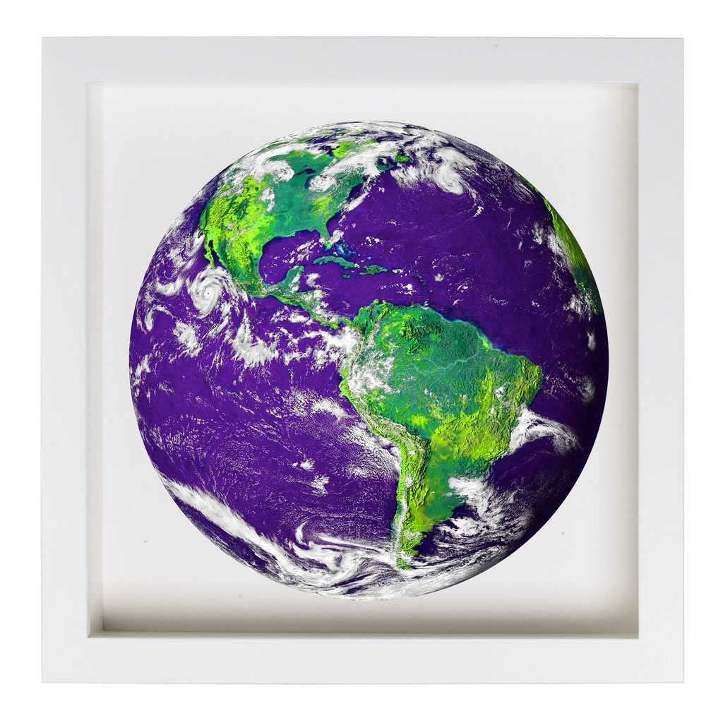 Earth From Space (Purple) Framed Nature Themed Art Print ...