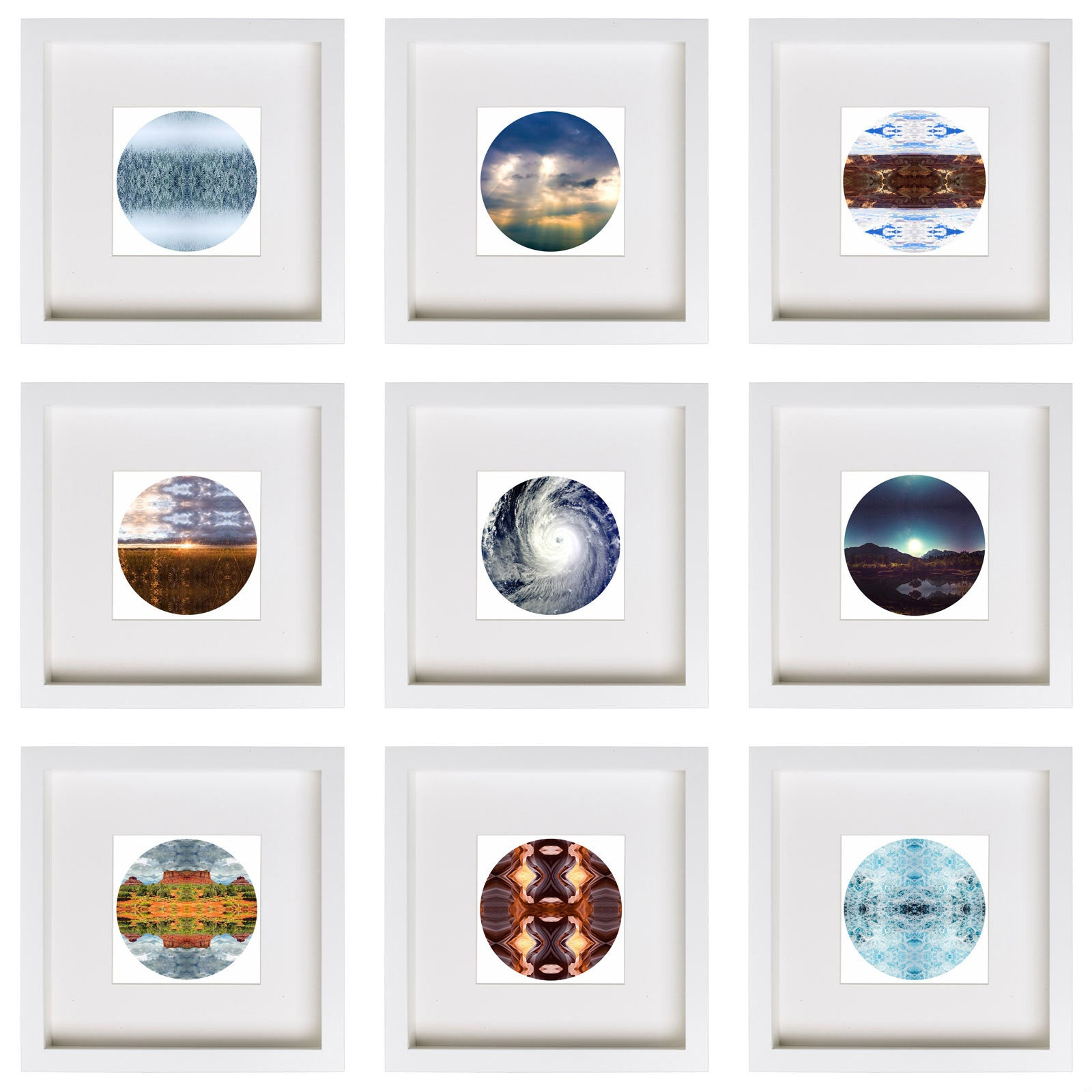 Earth Scenes 9 Piece Framed Nature Themed Art Print Set ...