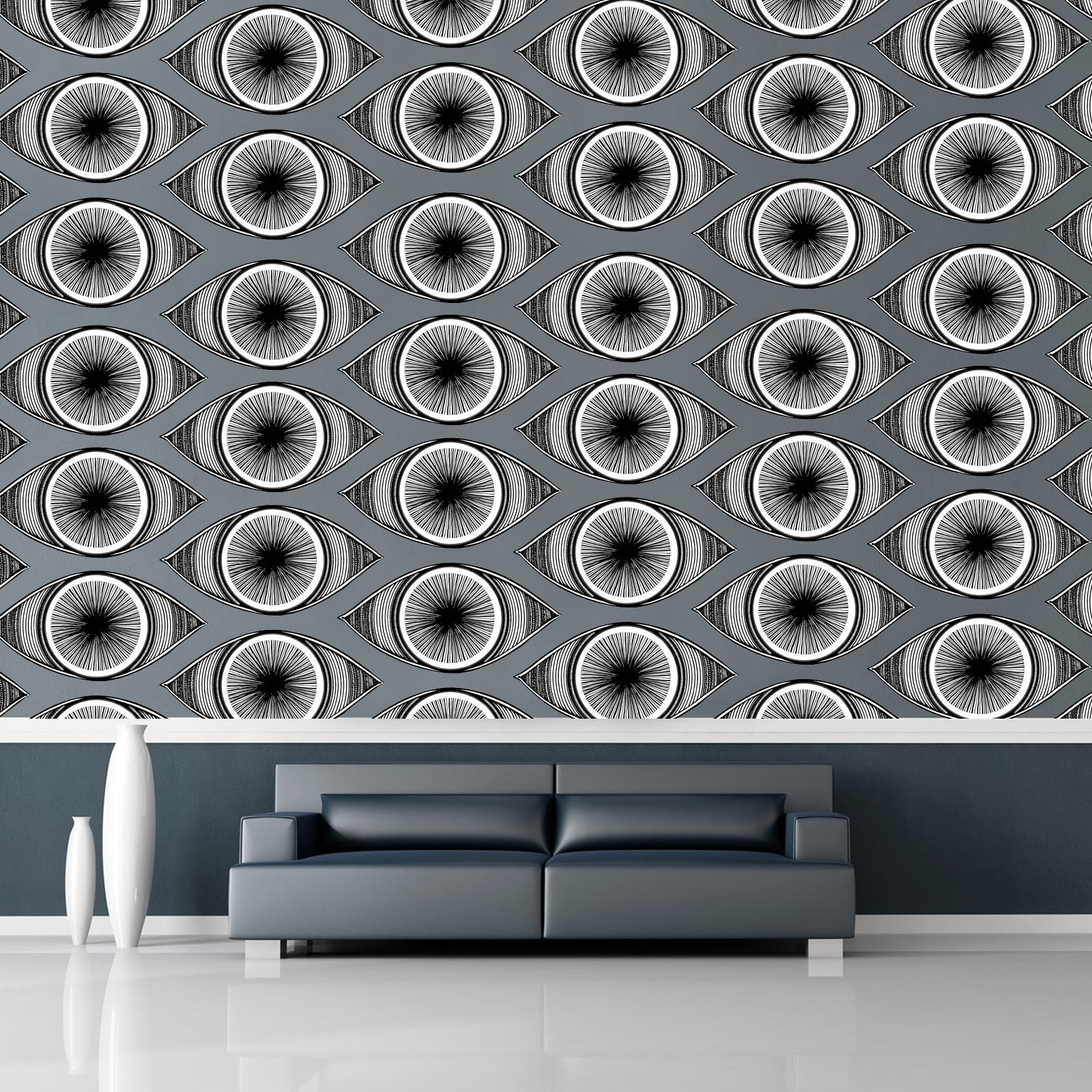 Minds eyes 10 piece fabric wall sticker set conspicuous design eye wall stickers as a mural on living room wall amipublicfo Images