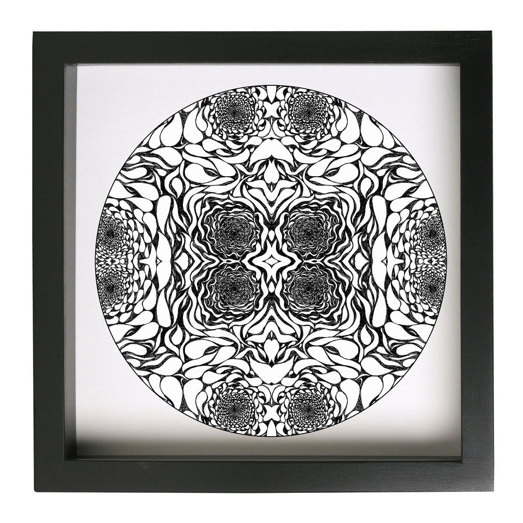 In The Eddies Framed Abstract Paisley Pattern Art Print