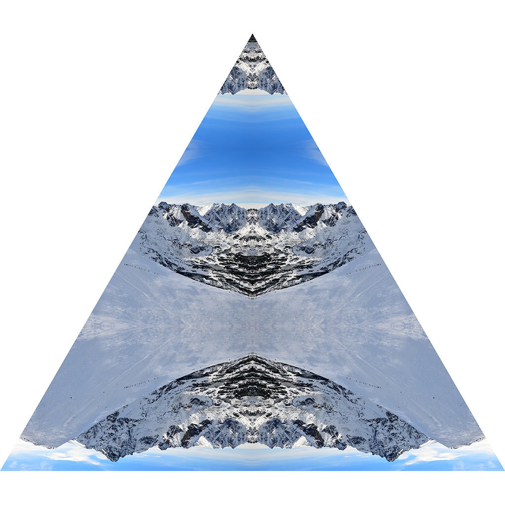 Mountain rescue nature themed fabric wall sticker triangle nature themed mountain snow triangle interactive art wall decal amipublicfo Choice Image