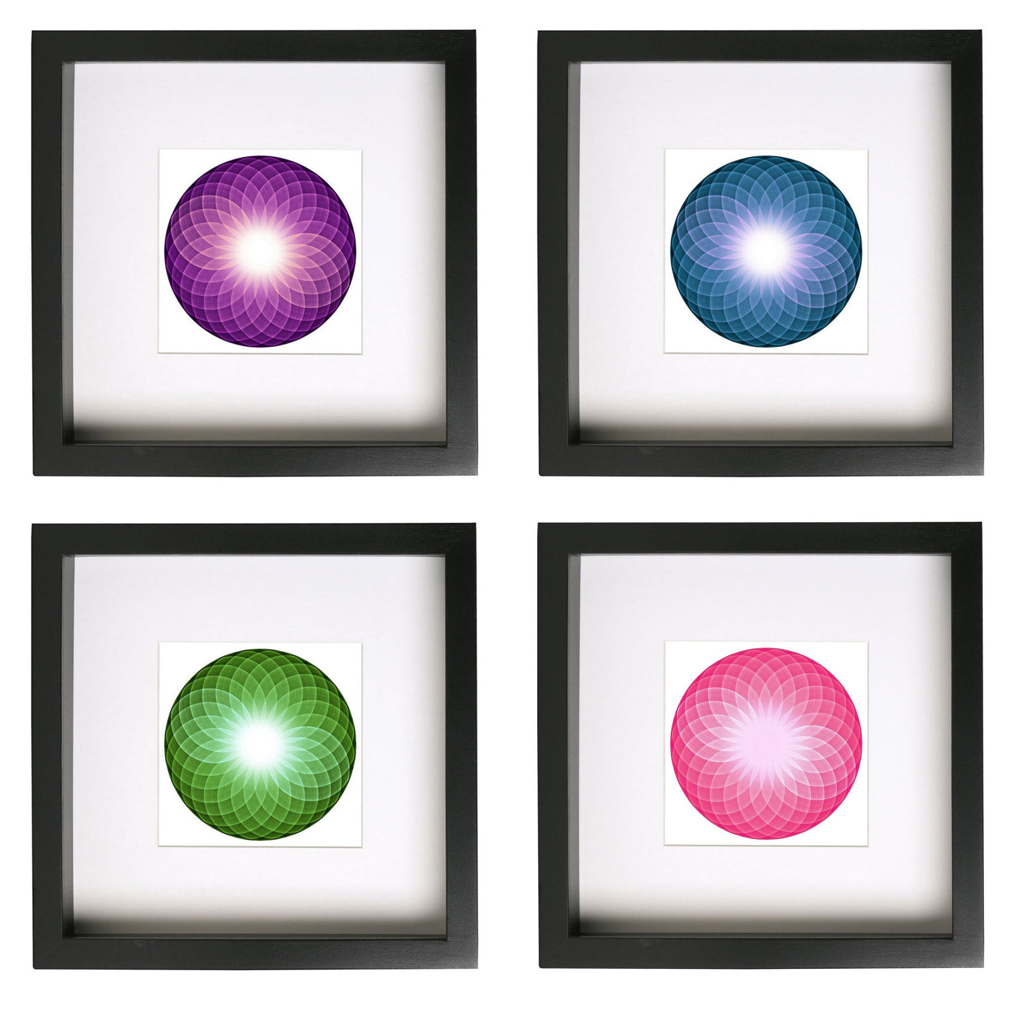 Three Moons 3 Piece Framed Nature Themed Art Print Set - Conspicuous ...