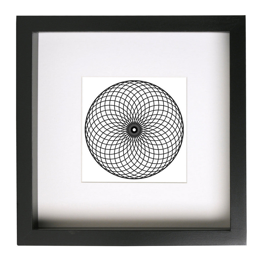Spherical Motion Framed Geometric Art Print - Conspicuous Design