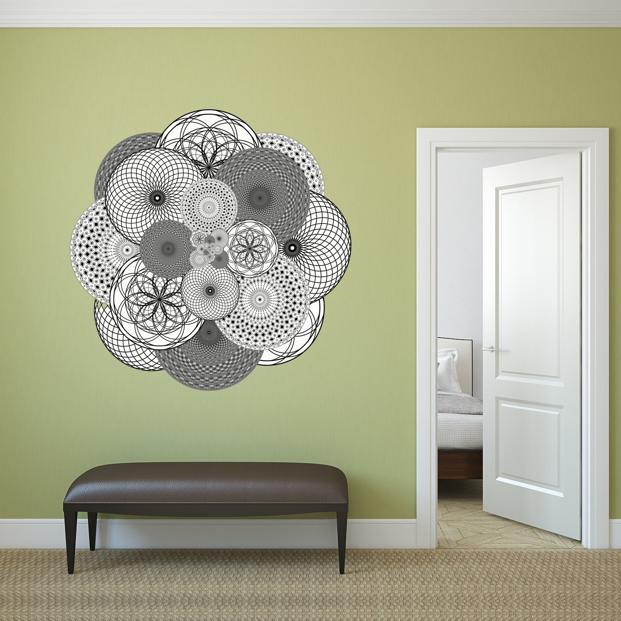 Supercluster Geometric Fabric Wall Sticker (Circle) - Conspicuous Design