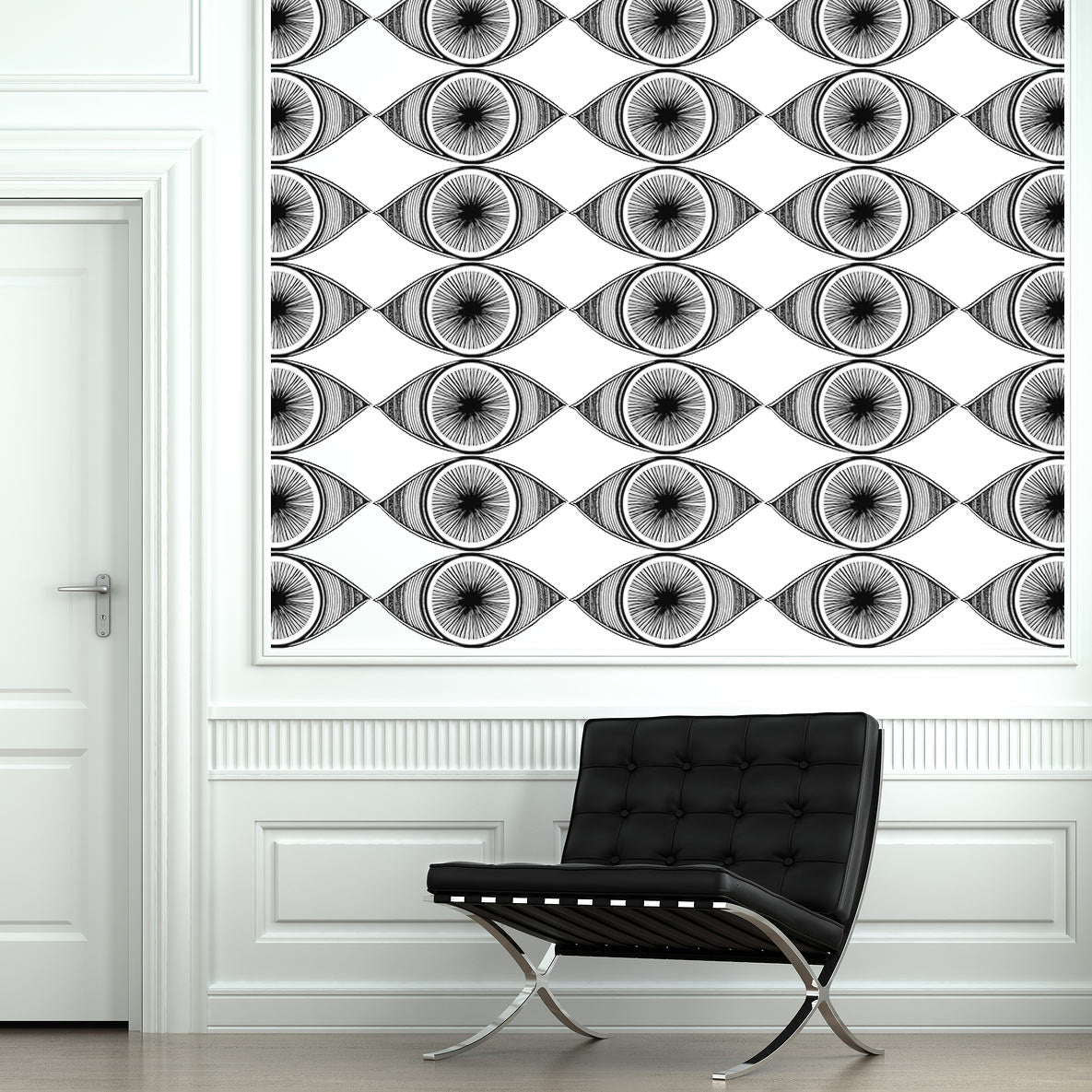 Minds eyes 10 piece fabric wall sticker set conspicuous design eye wall stickers over barcelona chair amipublicfo Images