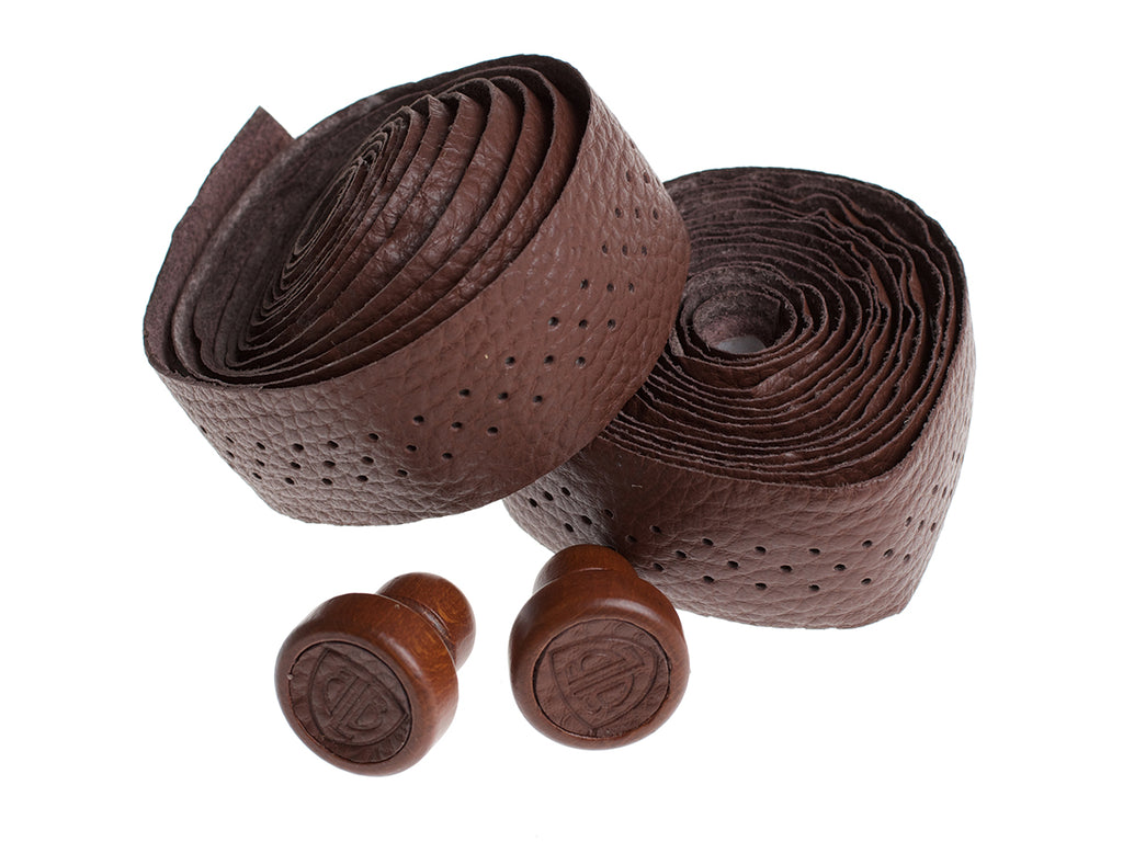 BLB LEATHER BAR TAPE - DARK BROWN