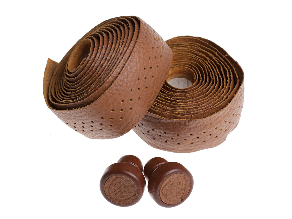 BLB LEATHER BAR TAPE - HONEY BROWN