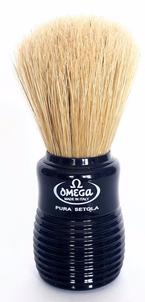 Omega 10810 Boar Brush, Black