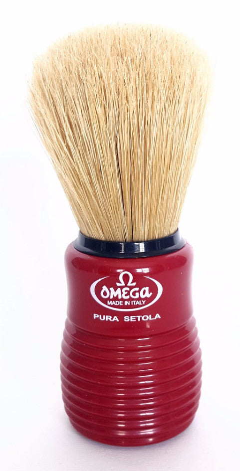 Omega 10810 Boar Brush, Red