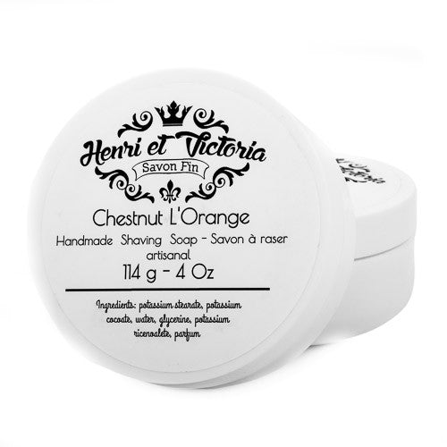 Henri et Victoria Chestnut L'Orange Shaving Soap