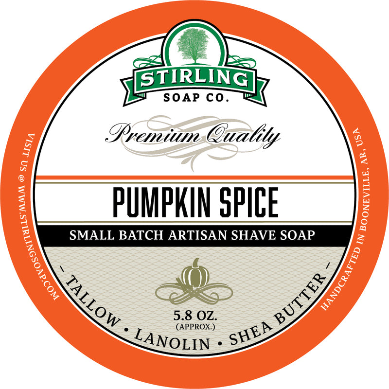 Stirling Soap Co. Pumpkin Spice Shave Soap