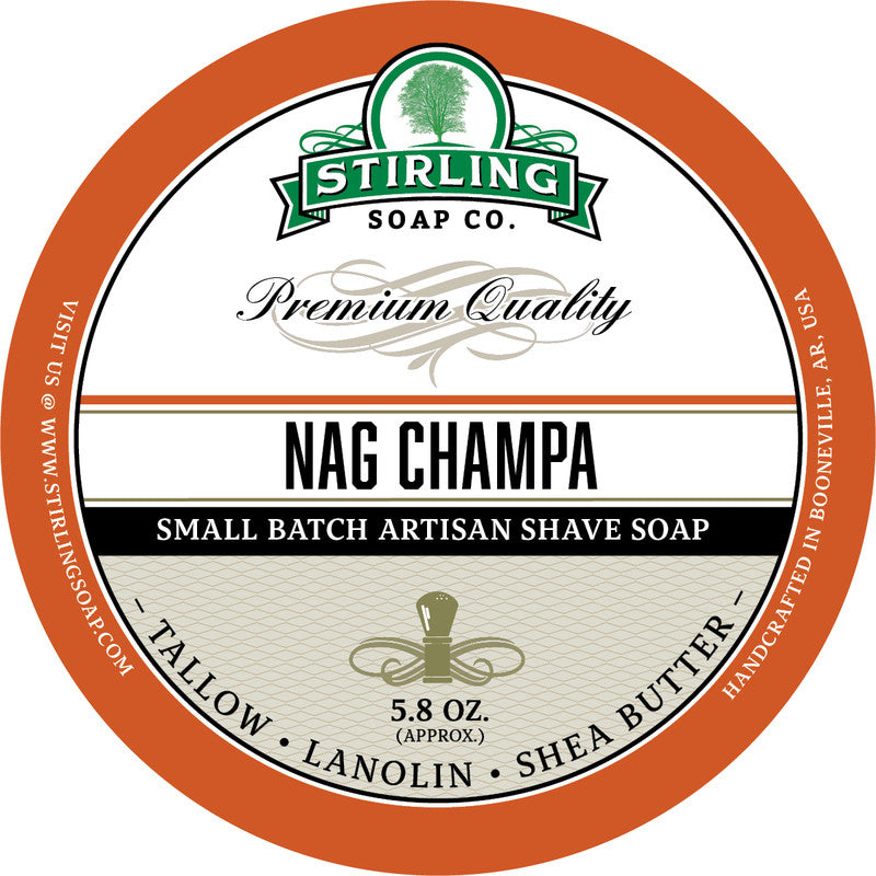 Stirling Soap Co. Nag Champa Shave Soap