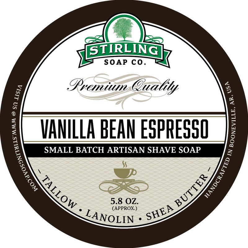 Stirling Soap Co. Vanilla Bean Espresso Shave Soap