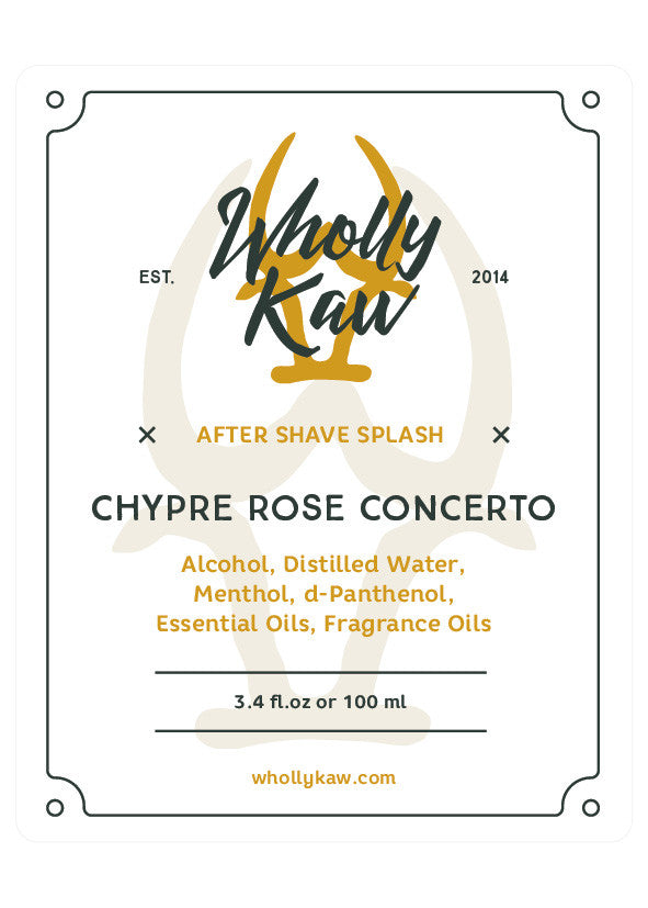 Wholly Kaw Chypre Rose Concerto Aftershave Splash