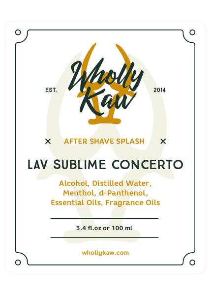 Wholly Kaw Lav Sublime Concerto Aftershave Splash