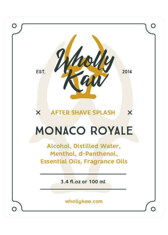 Wholly Kaw  Monaco Royale Aftershave Splash