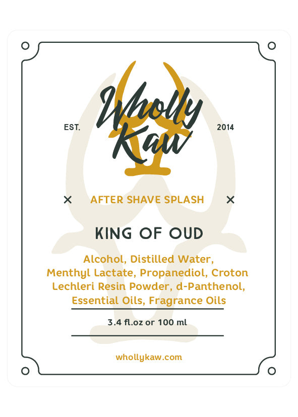 Wholly Kaw King of Oud Aftershave Splash
