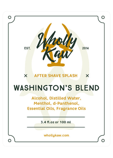 Wholly Kaw Washington's Blend Aftershave Splash