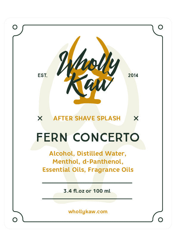 Wholly Kaw Fern Concerto Aftershave Splash