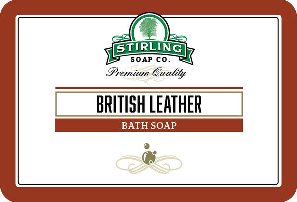 Stirling British Leather Bath Soap