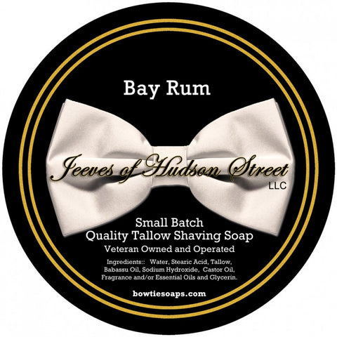 Jeeves of Hudson Street Bay Rum Shave Soap