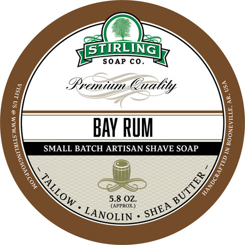 Stirling Soap Co. Bay Rum Shave Soap