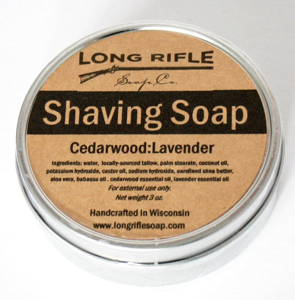 Long Rifle Cedarwood & Lavender Shaving Soap