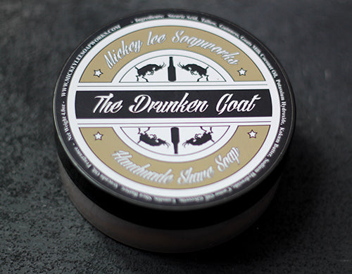 Mickey Lee Soapworks The Drunken Goat Shave Soap MISSING LABEL