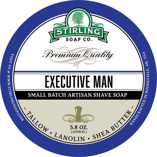 Stirling Soap Co. Executive Man Shave Soap