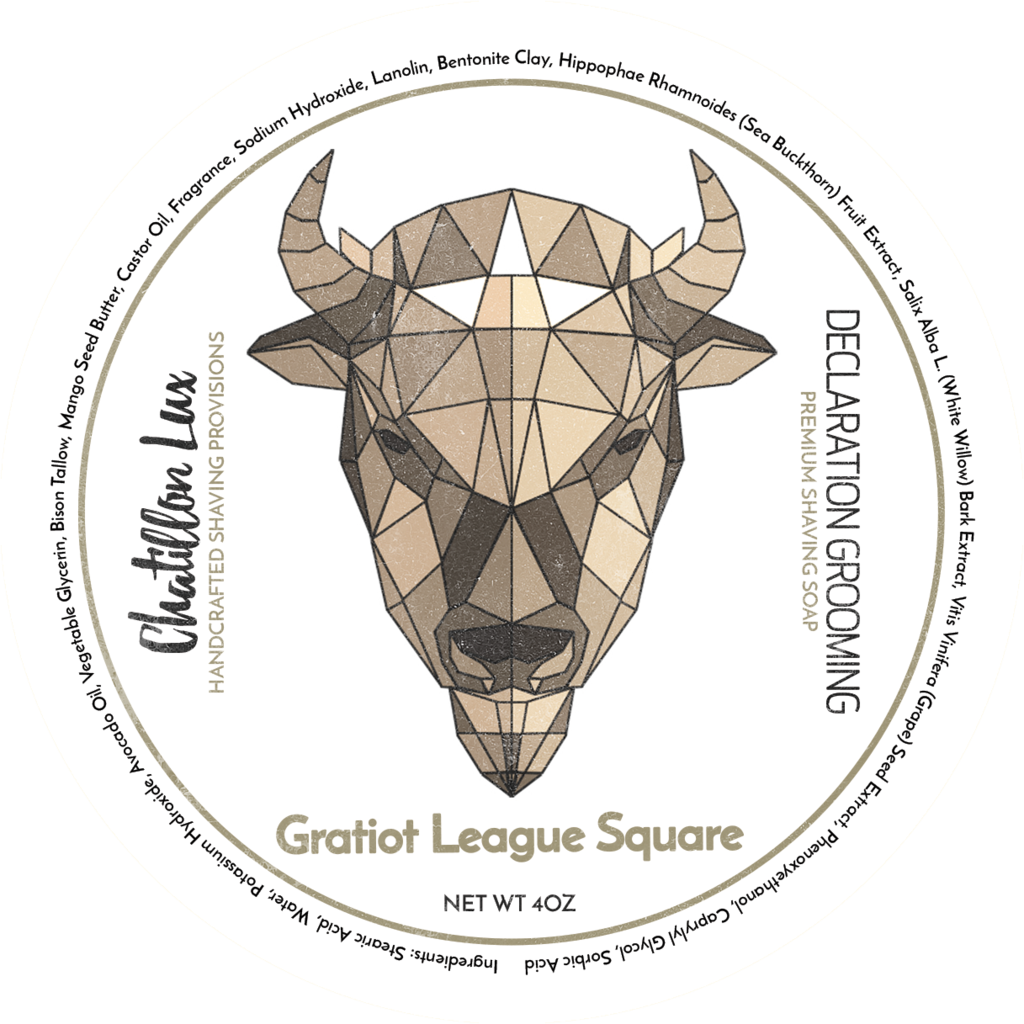 Declaration Grooming/Chatillon Lux Gratiot League Square Shaving Soap