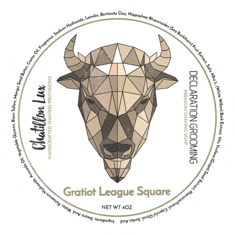 Declaration Grooming Gratiot League Square Shaving Soap