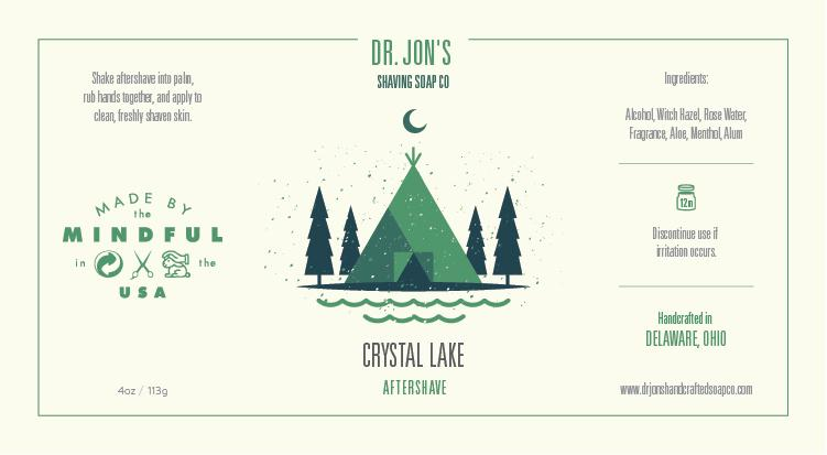 Dr. Jon's Crystal Lake Aftershave Tonic
