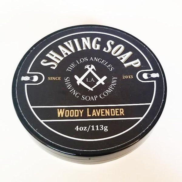 LA Shaving Soap Co. Woody Lavender Shaving Soap